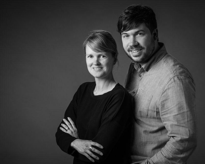 Kwinten Verspeurt en Tine Van Assche zaakvoerders Fotostudio Kwinten