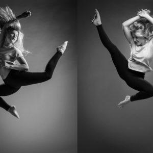 Springfoto meisje danssprong jazzballet