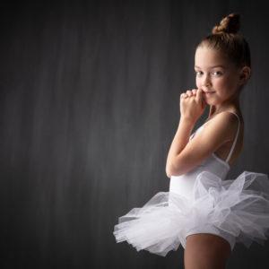 balletfoto meisje met tutu