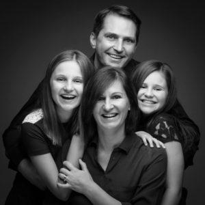 gezellige Familiefoto