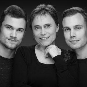 moeder met zonen