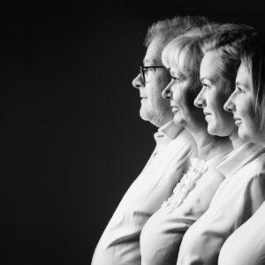 Familiefoto in profiel