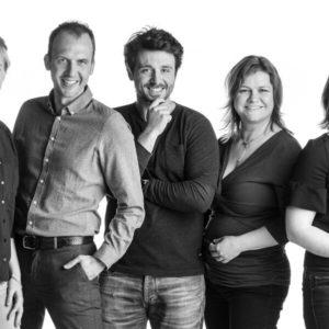 Groepsfoto bedrijf Klokhuis Interieurarchitecten - Groep interieurarchitecten