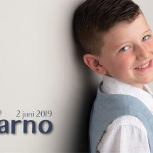 communieKaartje jongen - Yarno