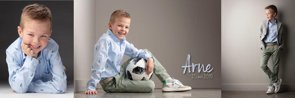 communiefoto communieKaartje jongen Arne - eerste communie