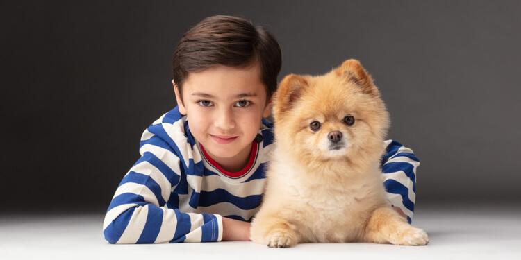 communiefoto met hond