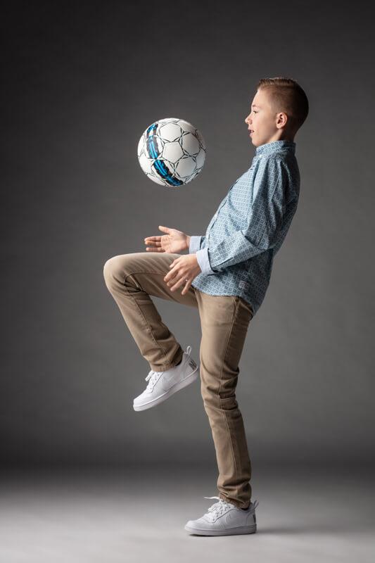 voetbal plechtige communiefoto