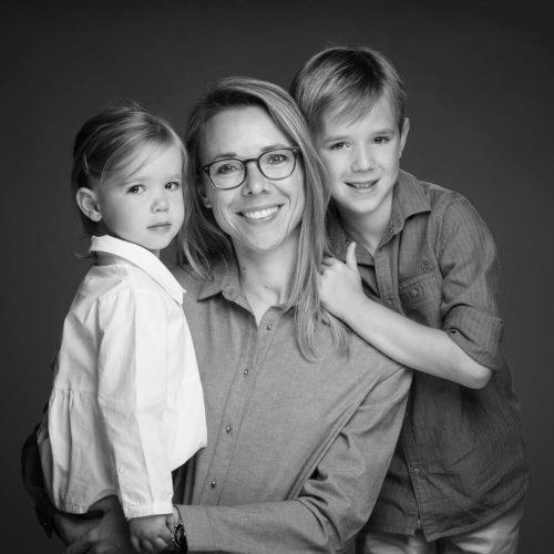 mama met kinderen