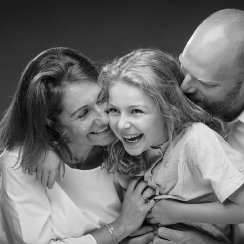 plezante Familiefoto