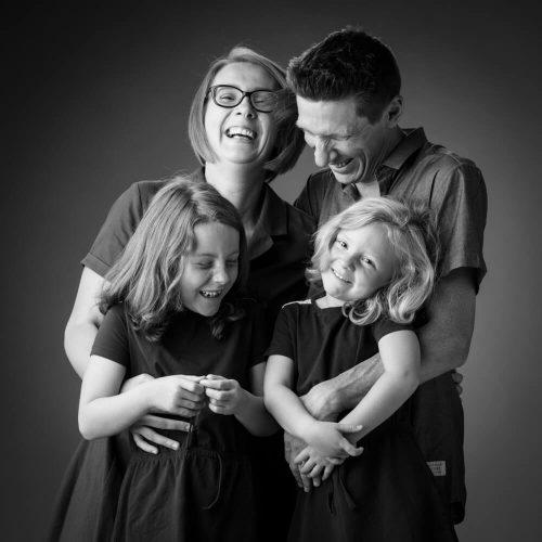 grappige Familiefoto