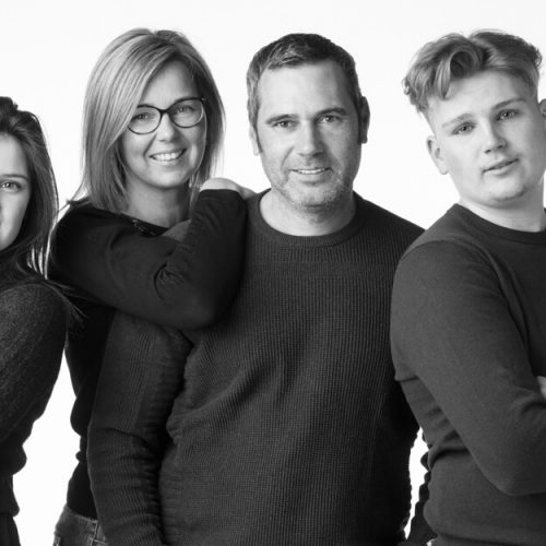 Familiefoto pubers