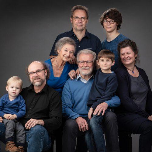 Familiefoto oma en opa