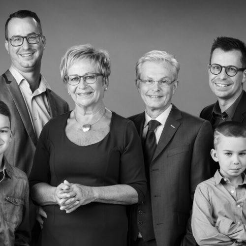 Familiefoto met klasse