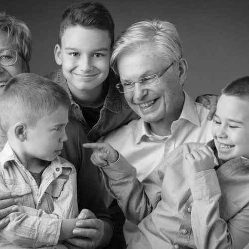 oma en opa en kleinkinderen